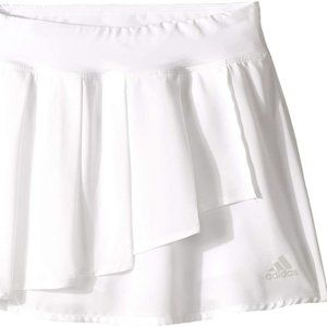 Adidas Kids Girl's Pleated White Skort (Big Kids)